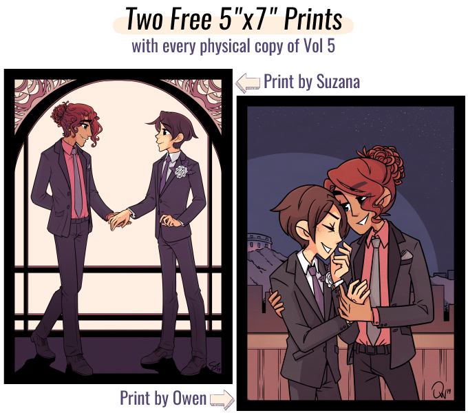 """Two free 5""""x7"""" prints— one by each artist!"""