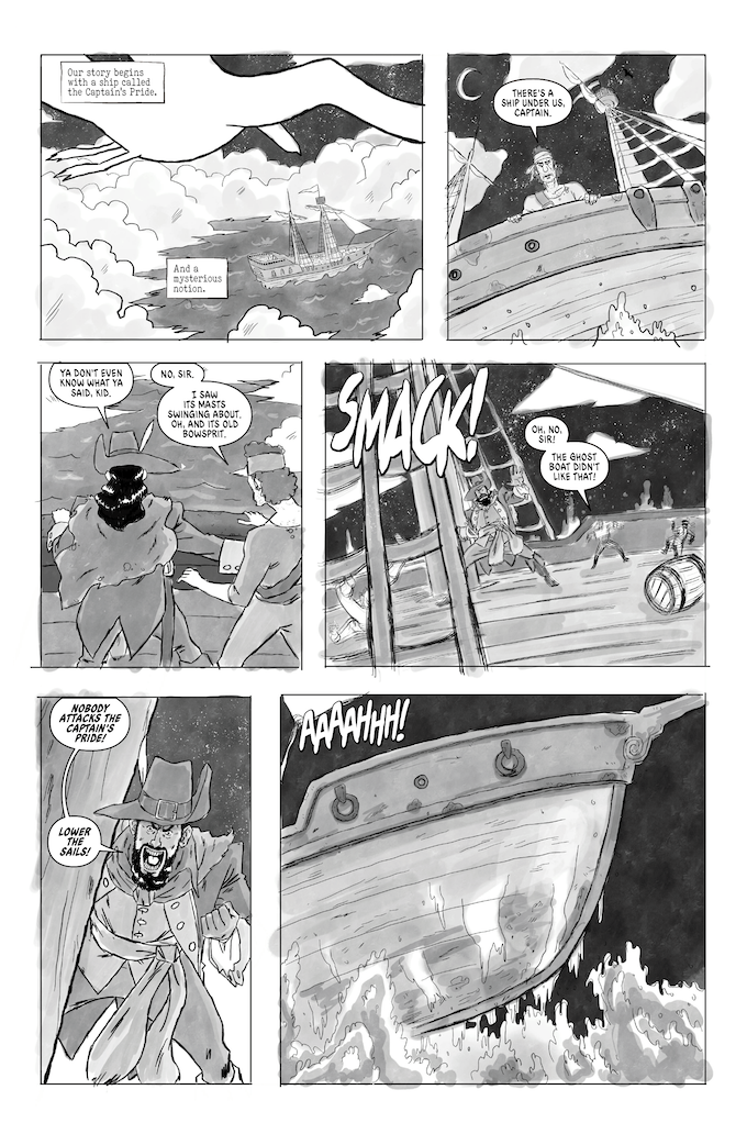 "UT: ""Curse of the Ghost Captain"", Written by Ryan Haack and Drawn by Edgar Martinez."