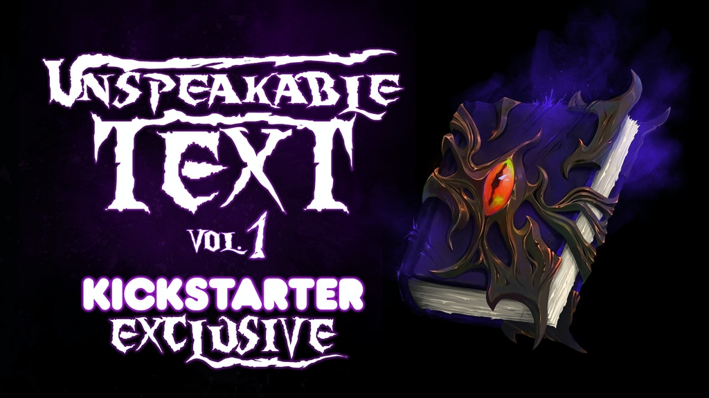 The Unspeakable Text (Vol. 1) - Horror Comic Anthology project video thumbnail