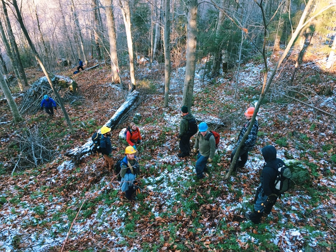 RASTA Volunteers working in the Brandon Gap Backcountry Zone.