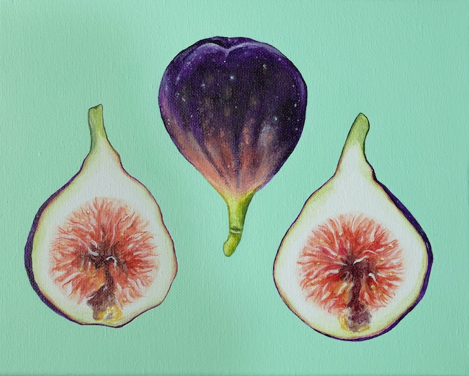 Original Fig Painting