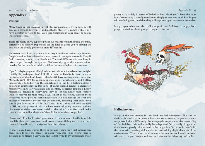 Fungi of the Far Realms - a fictional fungal field guide by