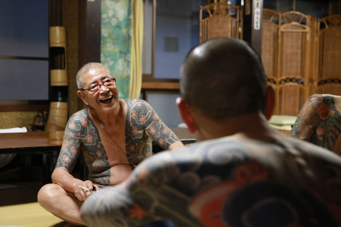 Members of the Chōyūkai relaxing in Oyama. Photo credit: Alex Reinke and Luca Ortis