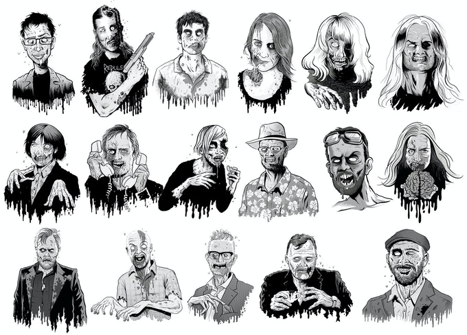 Några av förordsskribenterna har vi redan avslöjat namnen på i presentationen, till exempel Fredrik Strage, Orvar Säfström, Jonas Gardell, Jenny Jägerfeld och Sara Bergmark Elfgren. Vilka mer ser du bland zombieporträtten?