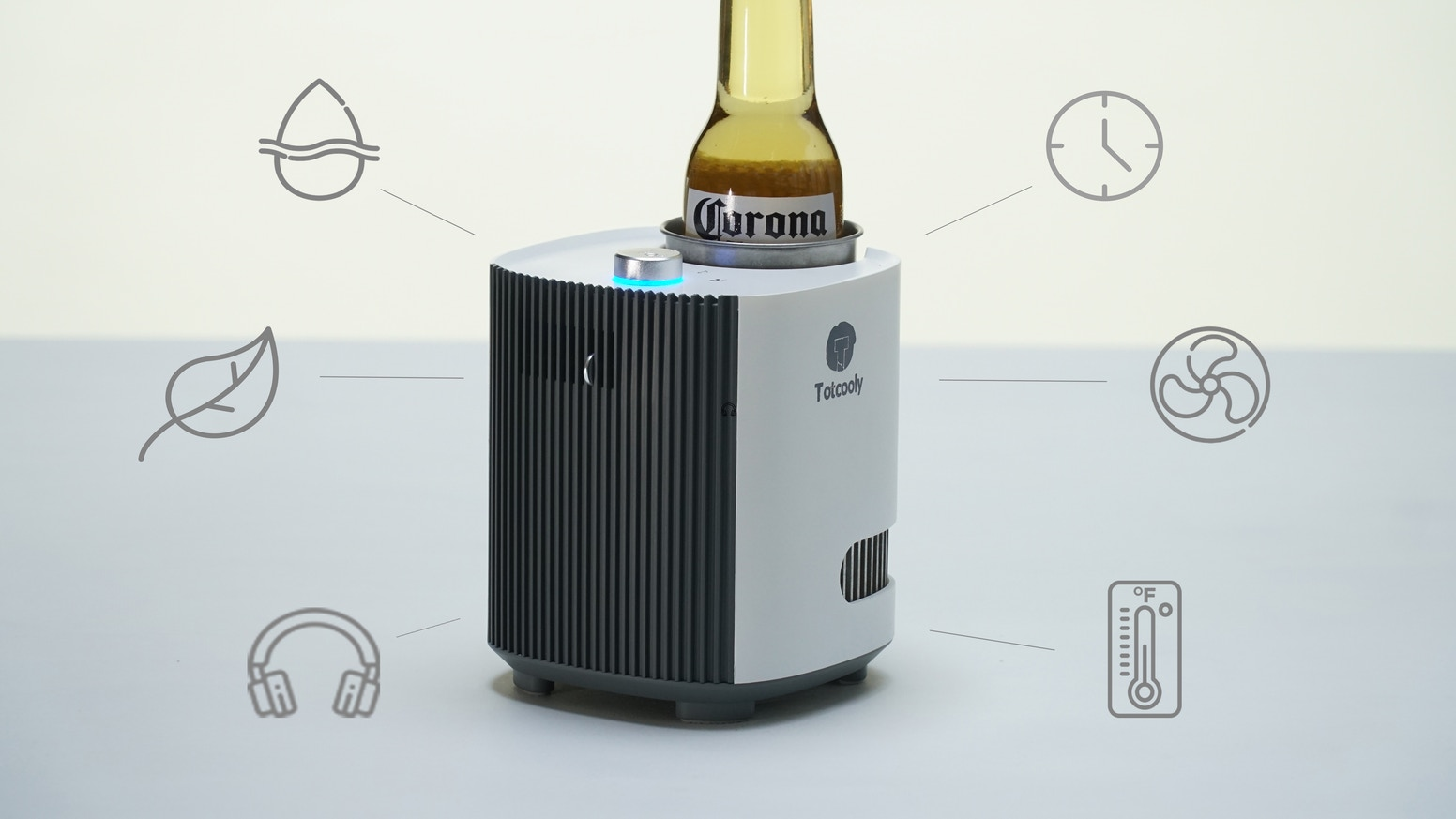 Cools you down, purifies the air, keeps beverages at the perfect temperature
