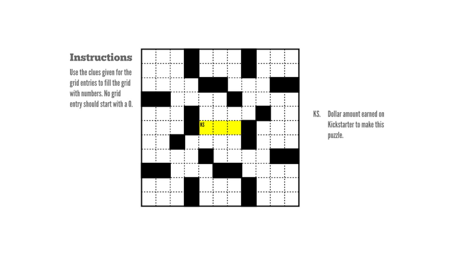 Dave makes a Numcross puzzle  by David Millar — Kickstarter
