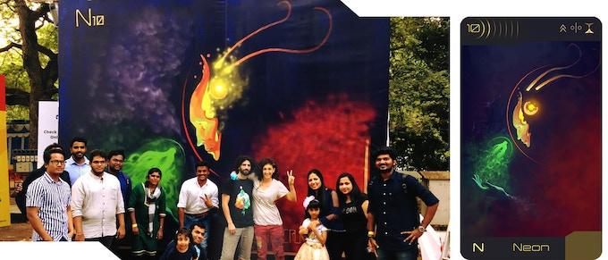 mural of Neon in Chennai, India, 2019