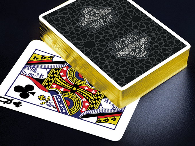 Close up Visualisation of a Gold Gilded Premier Edition Black Deck (Available in this KIckstarter).