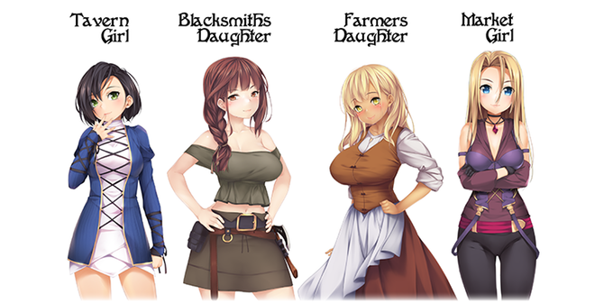Examples of some of the existing Romance-able Characters in the Game.