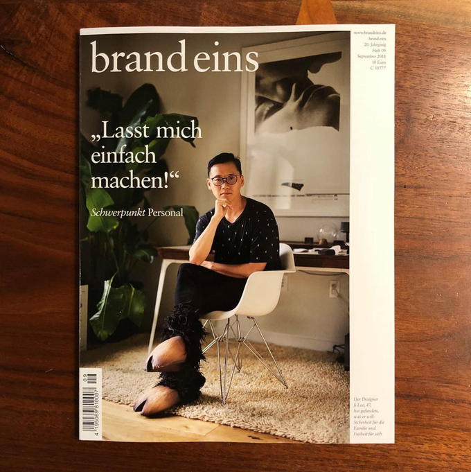 Ji Lee on the cover of brand eins magazine. Image credit by Ji Lee,