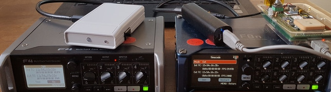 Testing, 1, 2, 3: DISH prototypes v0.2 and v0.1 with ZOOM F4 and F8n respectively