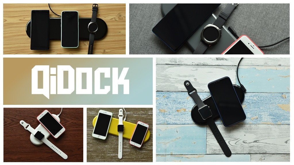 QiDock - Qi charger that charges phones, watches and others. project video thumbnail