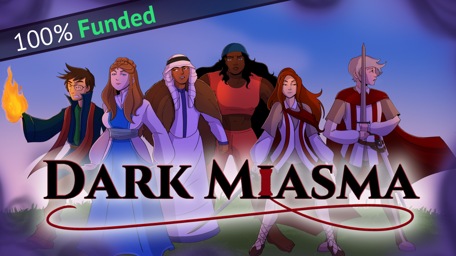 A hybrid of visual novel storytelling and deck-building RPG combat. Use your time wisely to save as many of the townsfolk as you can!