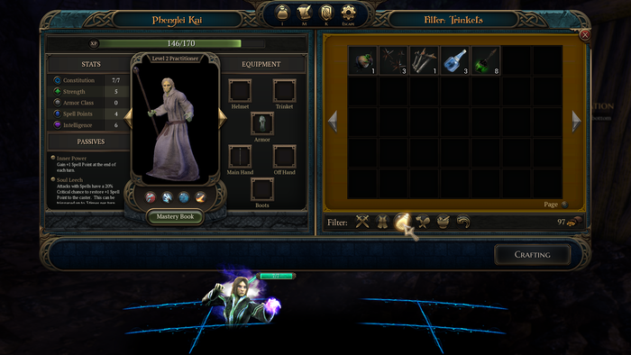 Revised inventory management and additional UI features.