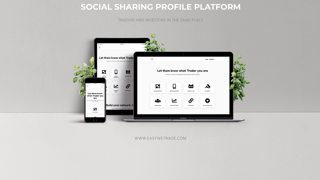 Project image for EasyWeTrade - social sharing profile platform