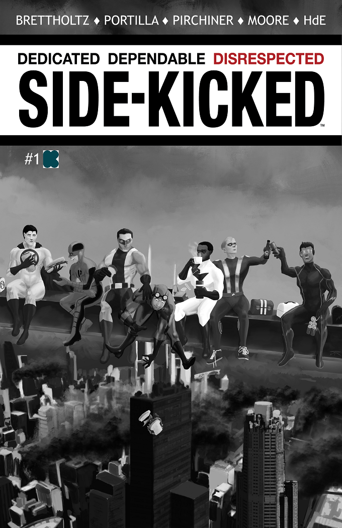 Side-Kicked Volume 2: Issue #1 (Chapter 5) Cover 1B - by Dustin Collins (Kickstarter Exclusive)