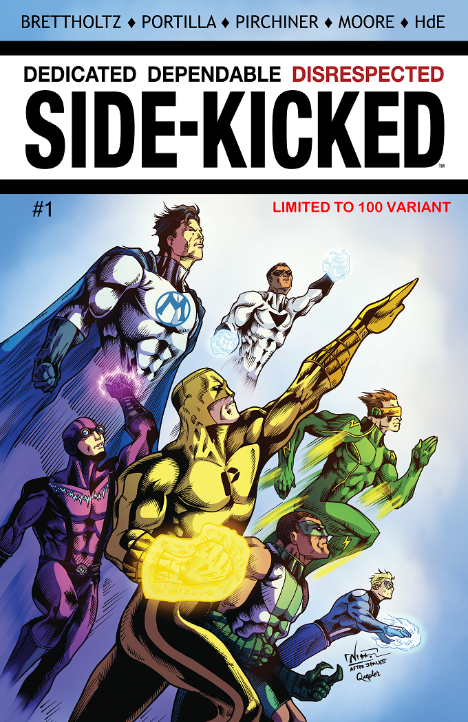 Side-Kicked Volume 2: Issue #1 (Chapter 5) Cover 1D - by Nikkol Jelenic (Limited to 100 copy print run))