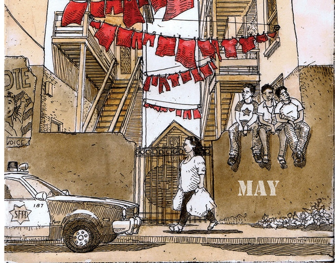 """""""Banderas Rojas"""" by Fernando Martí."""