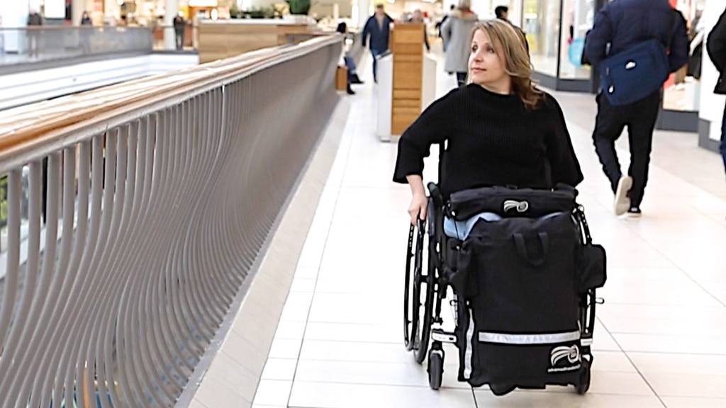 Handi Pac - The ONE and ONLY Front-Facing Wheelchair Bag project video thumbnail