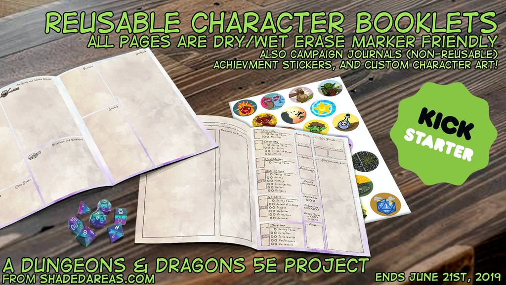 Project image for Reusable 5e Character Booklets (And Other Things)