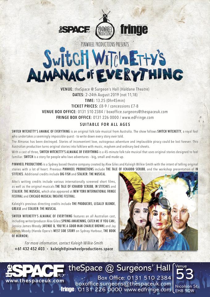 Switch Witchetty's Press Release