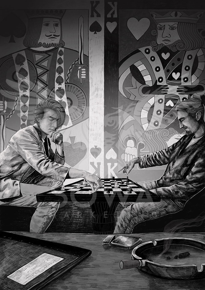 Chess - an illustration from the novel