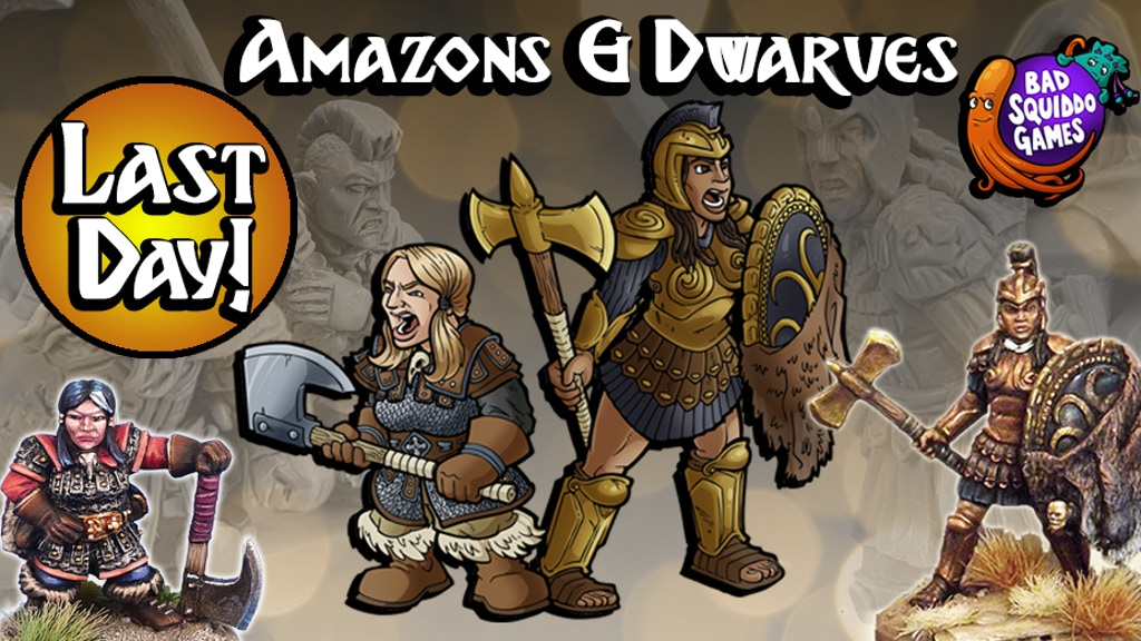 Amazons & Dwarves - Quality 28mm Female Miniatures project video thumbnail