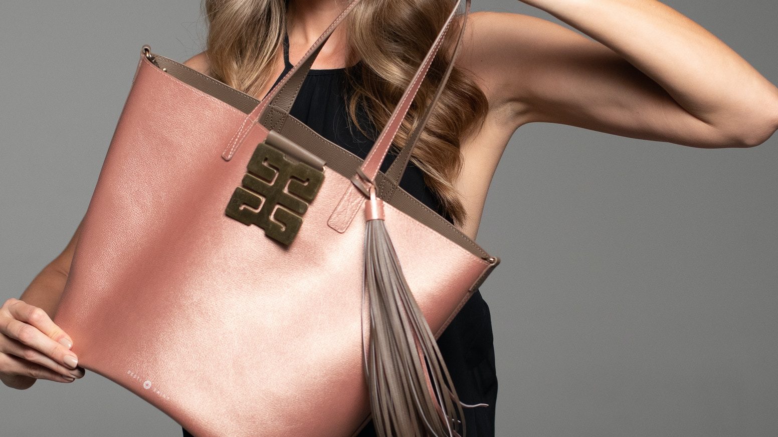 The Italian Leather Reversible Shopper with a Splash of Happiness!
