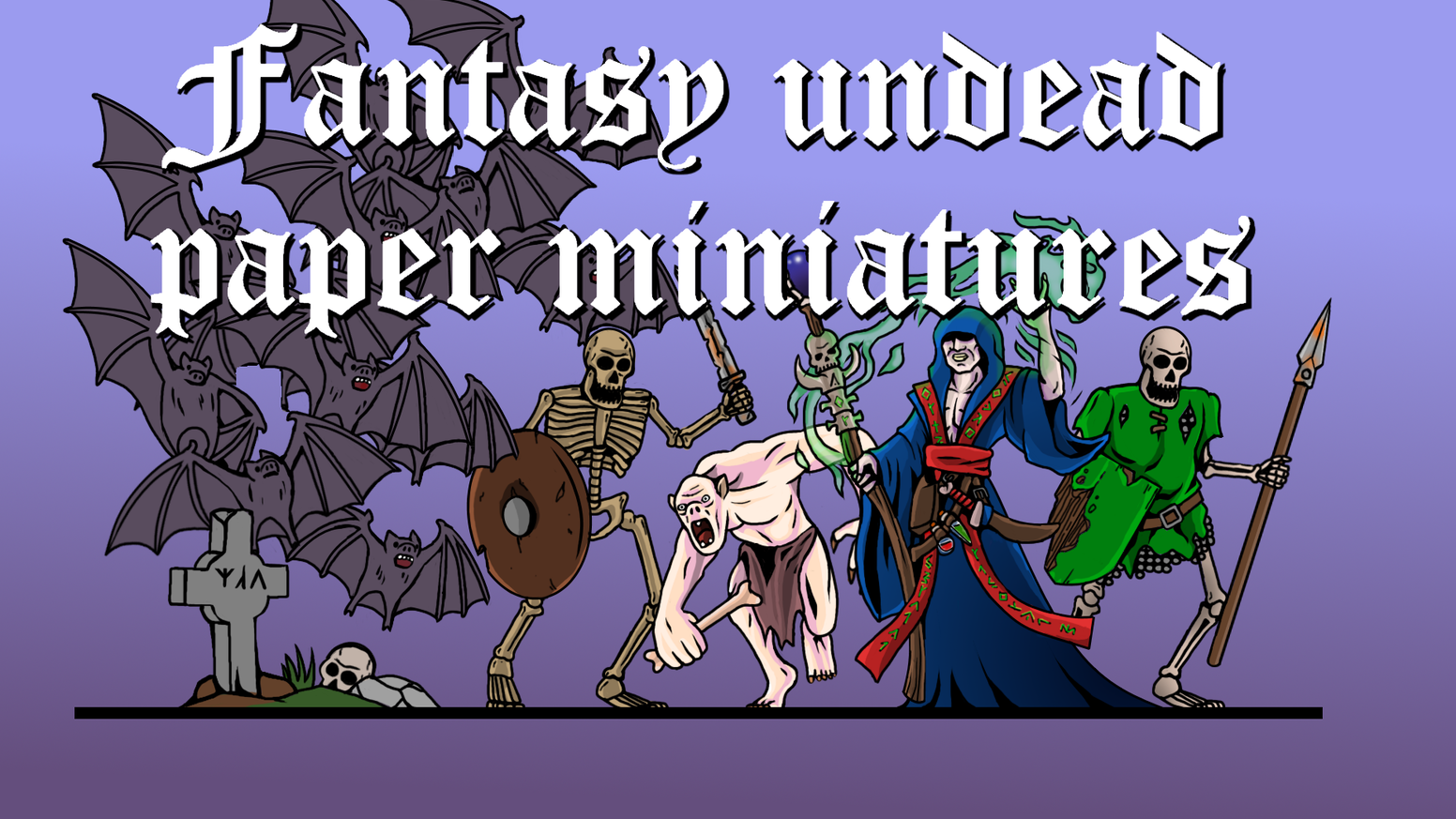 28mm undead paper miniatures of monsters skeletons and more for your fantasy wargames and rpg