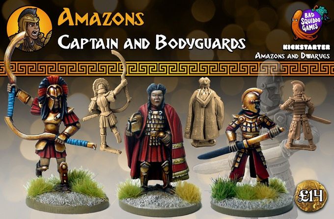 This pack contains three single piece high quality white metal miniatures. Supplied unpainted.