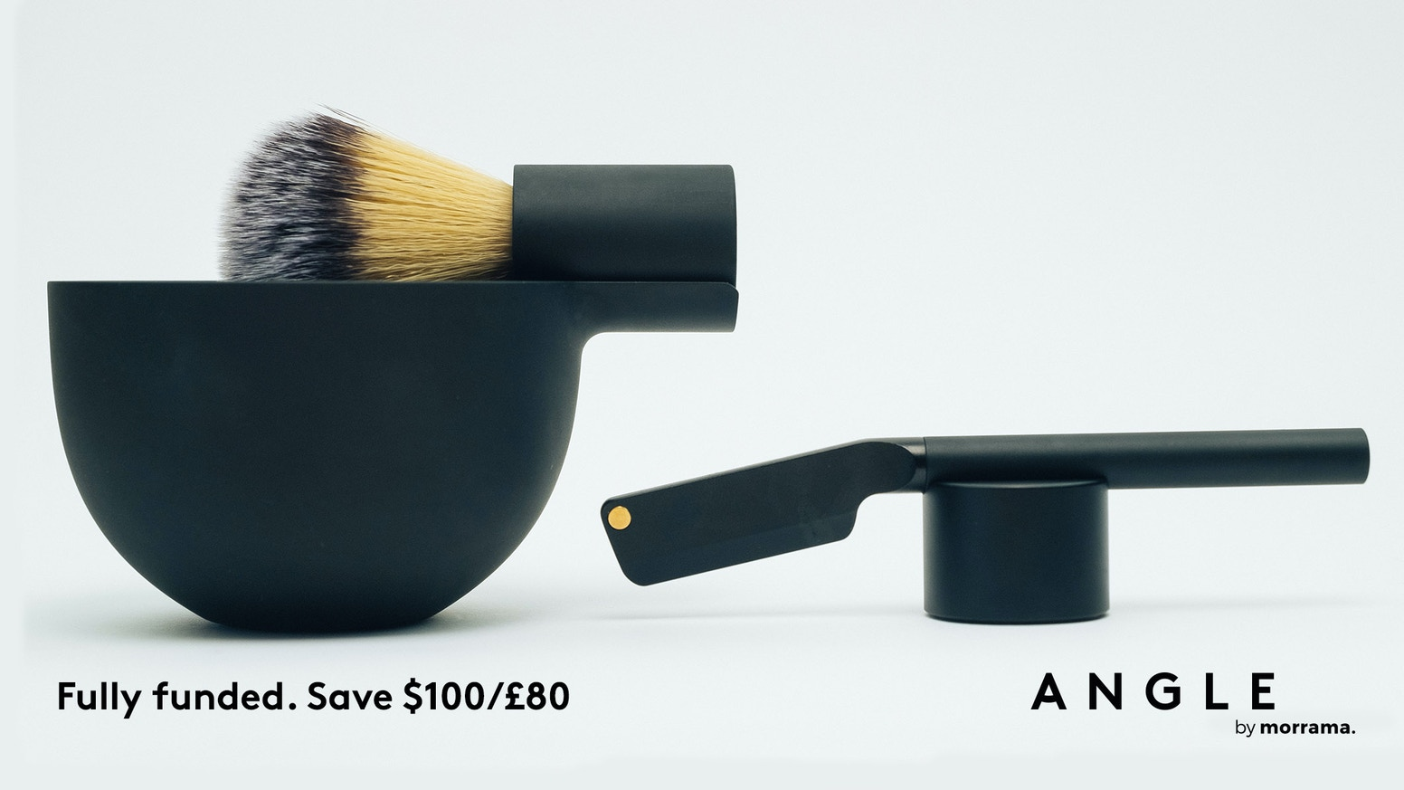 A minimal brush and bowl designed to embrace the ritual of shaving