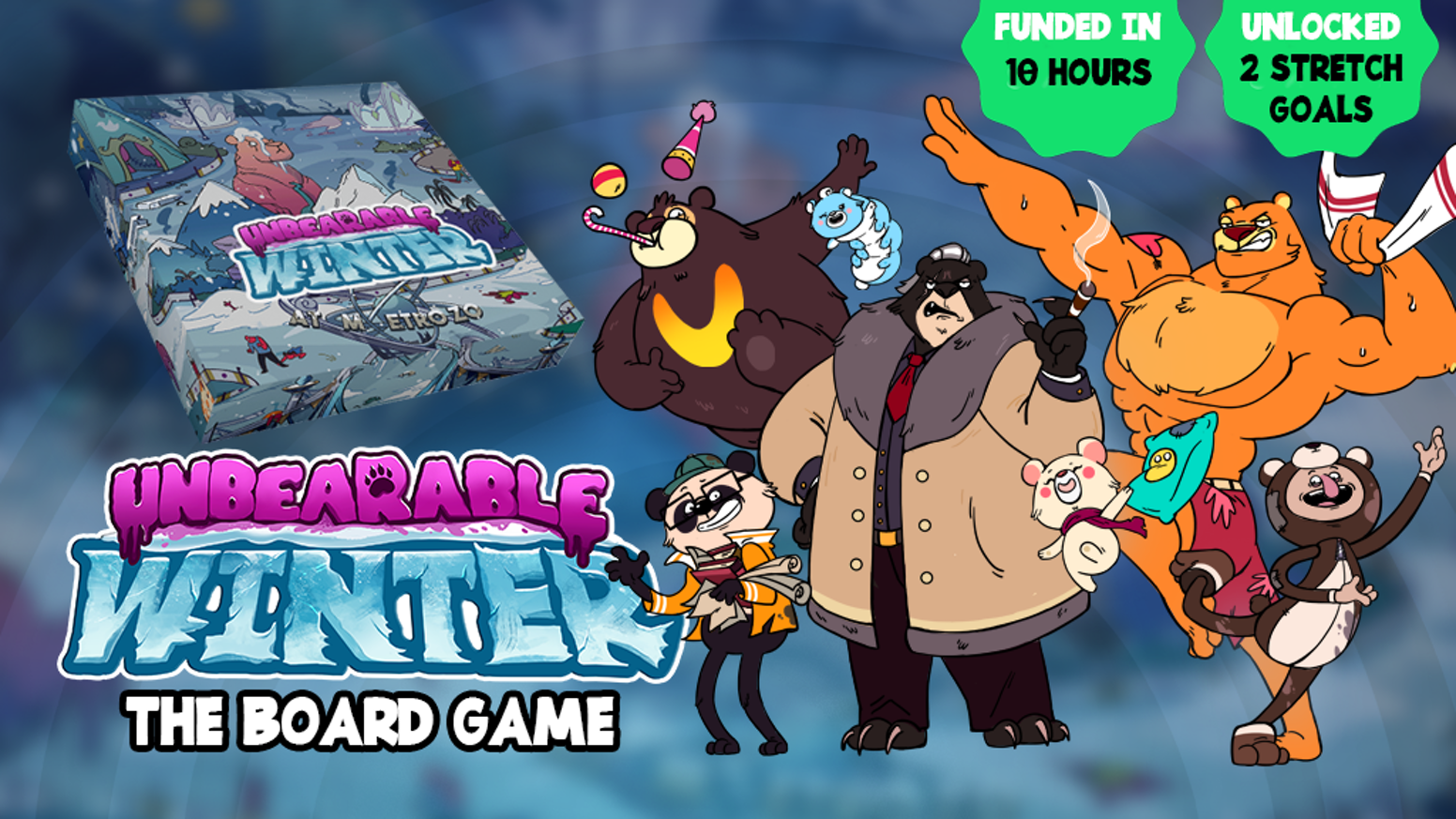 A furr-rightening survival board game of cute bears and cruel betrayal. The nuclear winter has arrived, fend for your lives!
