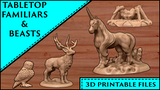 3D Printable Tabletop Familiars and Beasts thumbnail