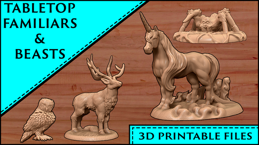 3D Printable Tabletop Familiars and Beasts project video thumbnail
