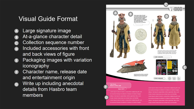 Visual guide layout format (subject to change).