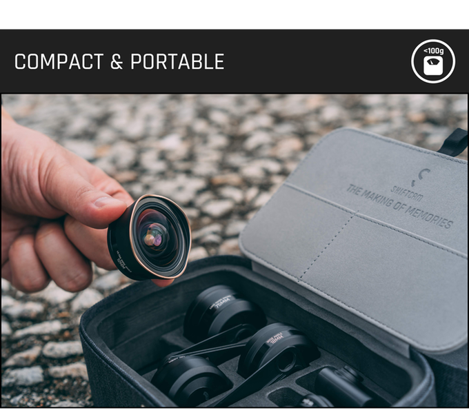 Weighing less than 100g, this pocket-friendly detachable lens houses an impressive 6 element 4 group structure - perfect for capturing those unexpected moments.