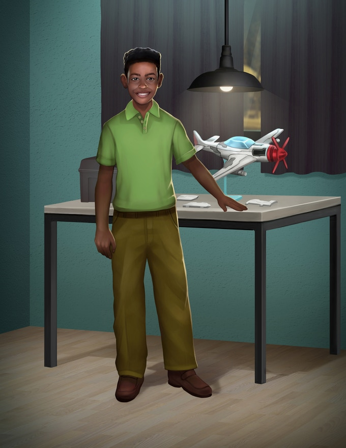 Terrence from the STEAM Chasers.  Illustration by CMD Studios