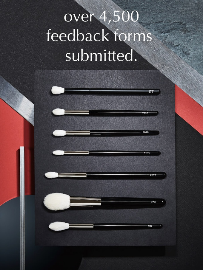 since the launch of our prototype program, we've received over 4,500 feedback & input entries from people around the world. with their feedback, we began designing brushes.