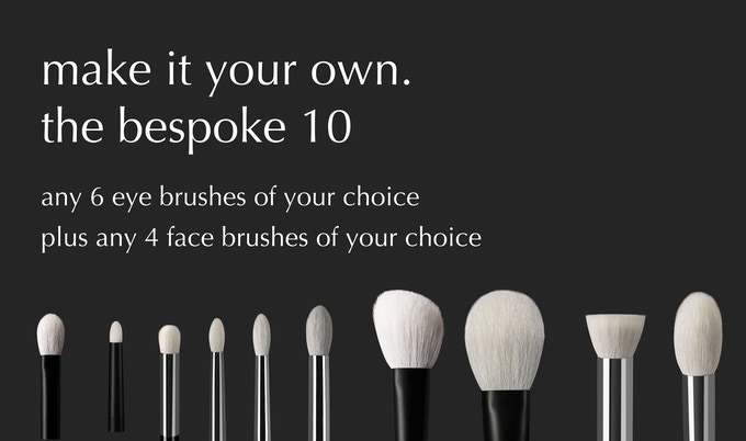 build your own set by selecting brushes from the core collection as well as the bespoke collection. duplicates are allowed! Includes magnetic travel case.