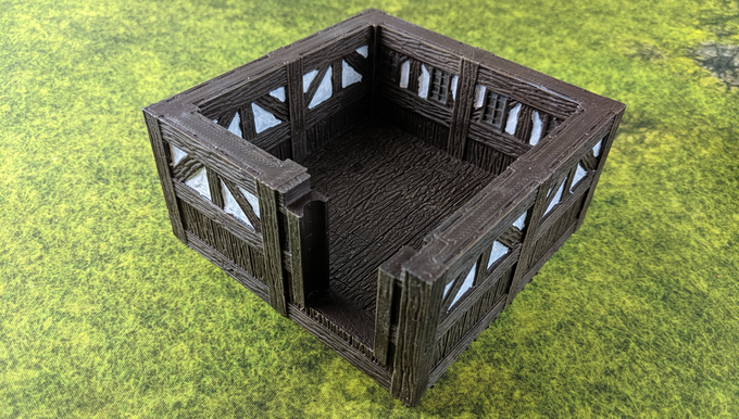 Prints as one piece for so you can build quickly!