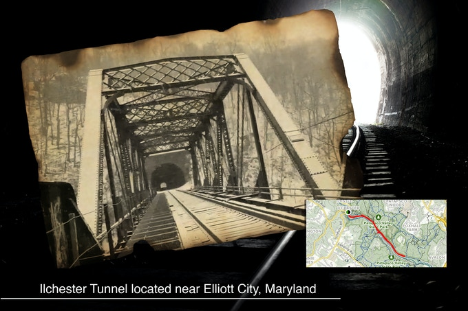 The Ilchester Tunnel, Maryland location of the legend of The Blink Man.