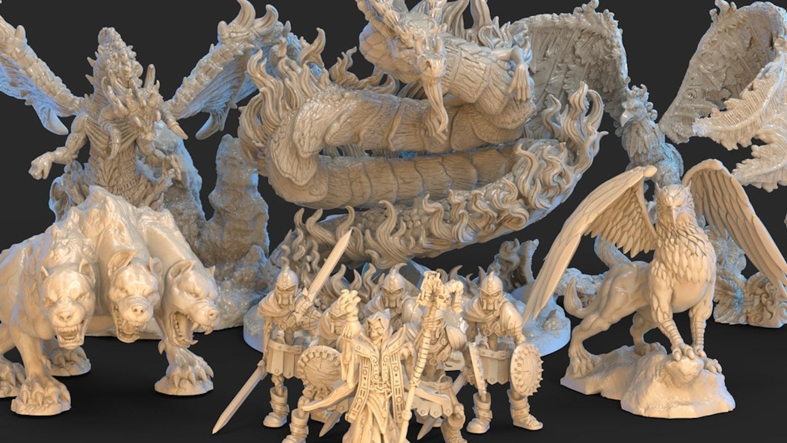 3D Printable Files, 32mm Scale, RPG / wargaming