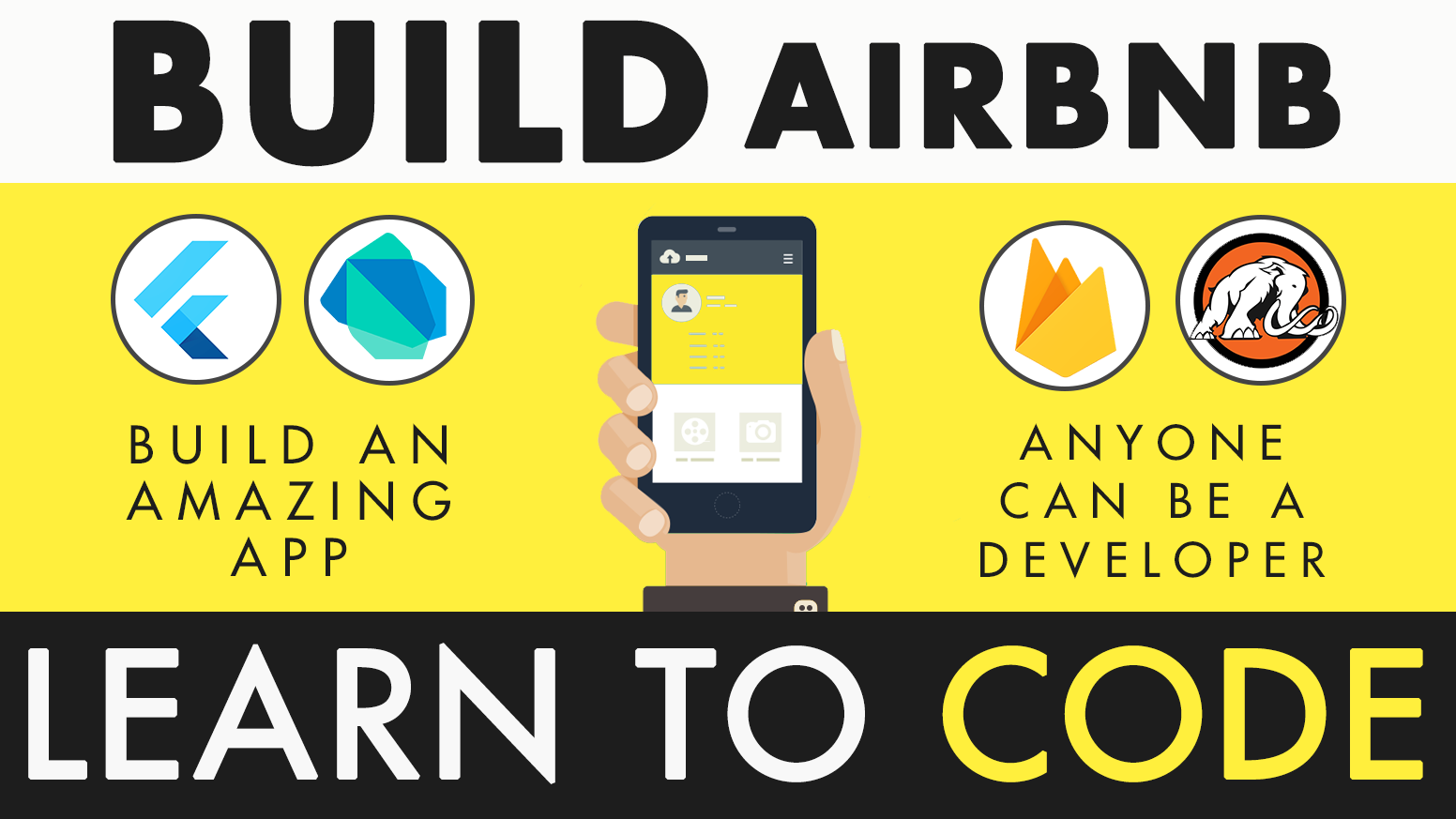 Start an empire with your first advanced app for Android & iOS with Dart and Firebase. Build an app from scratch for your startup!