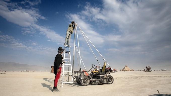 Roy Two Thousand making Lake of Dreams at Burning Man 2013