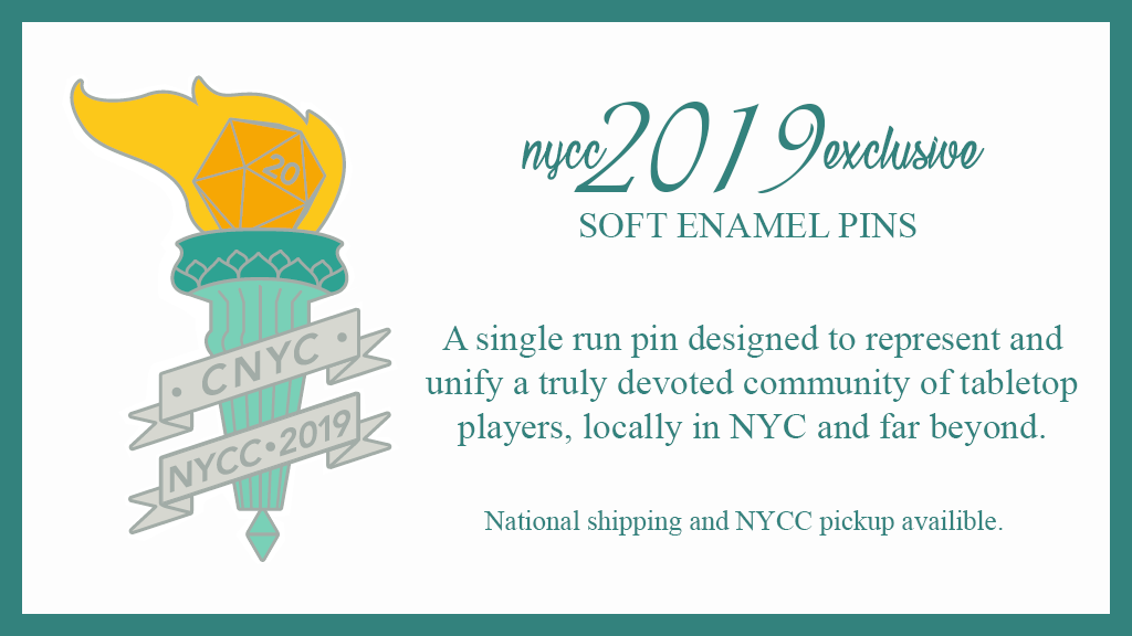 Project image for CNYC Enamel Pins: NYCC 2019