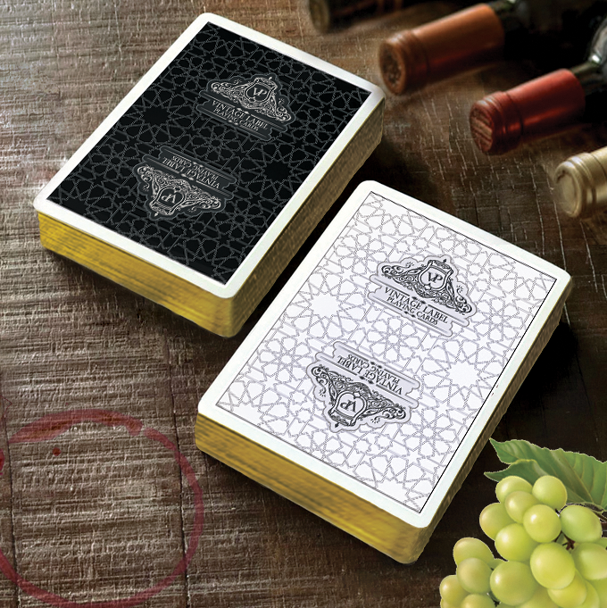 Visualisation of a Gold Gilded 'Premier Edition Black' Deck (Available in this Kickstarter) and a Gold Gilded 'Premier Edition White' Deck (Coming Soon to Kickstarter).