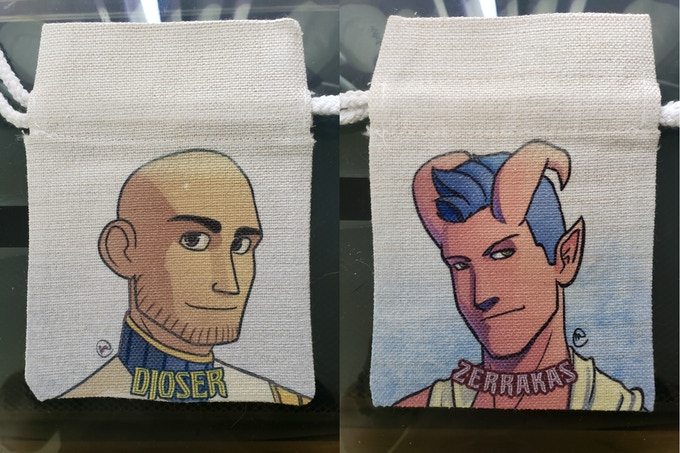 Sample dice bags - Final product may look different