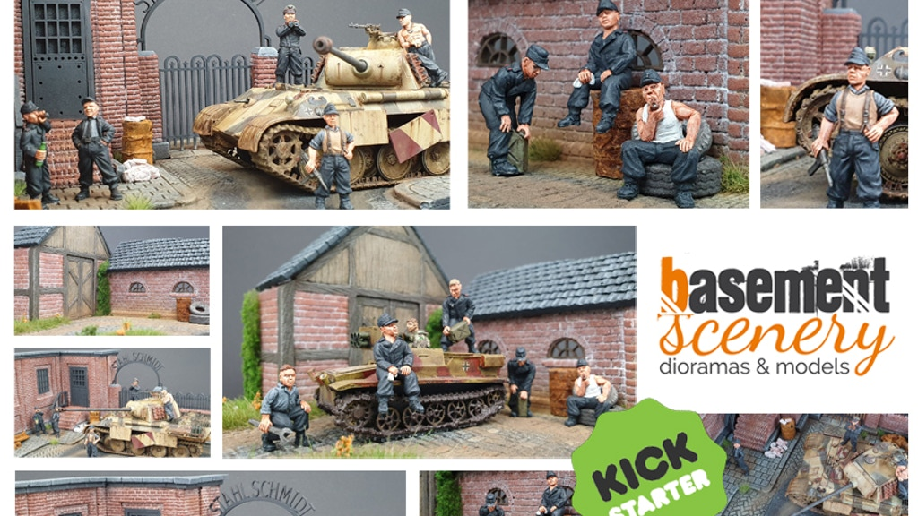 28mm / 1:56 German Tank Crew & Diorama Bases project video thumbnail