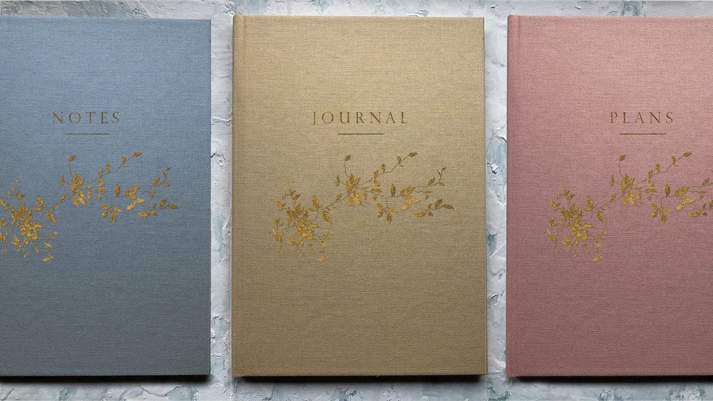 Linen cover notebooks