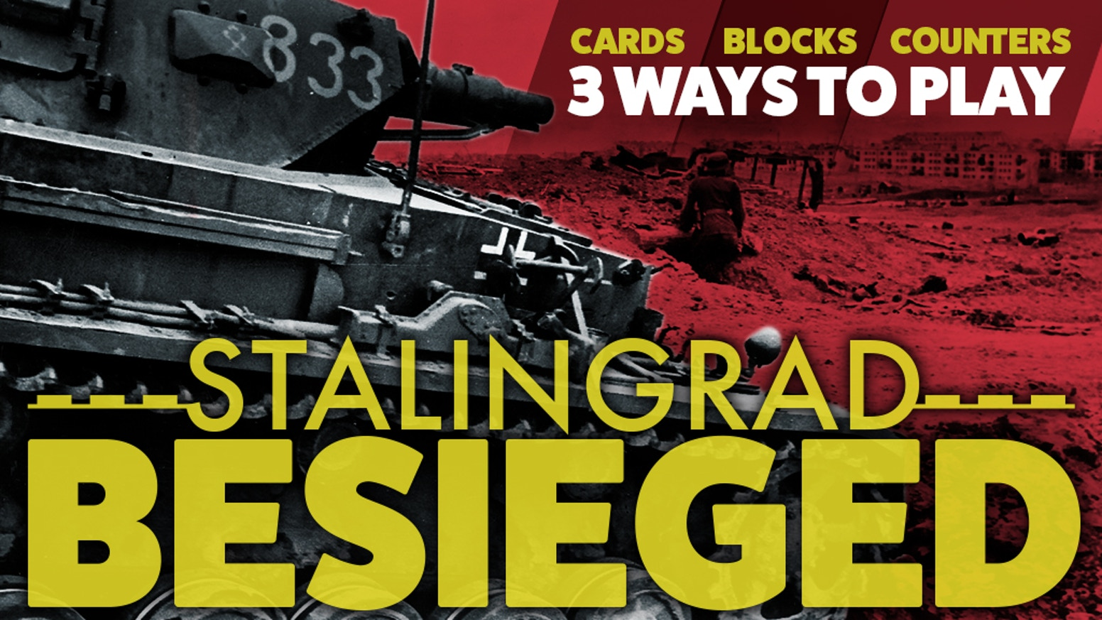 Refight the Battle of Stalingrad in an hour or under.  For 1 to 2 players.